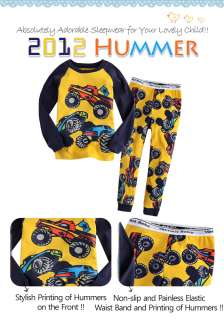 &Toddler Kids Boy Girl Sleepwear Pajama Set  2012 Hummer