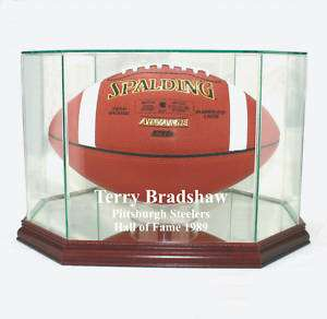 Terry Bradshaw Steelers F/S Football Display Case UV