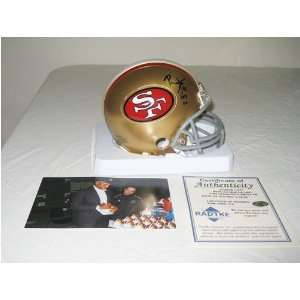 Autographed Ronnie Lott Mini Helmet   Hof  Sports