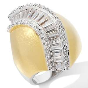 IMAN Global Chic Ultimate Glam CZ Curve Wave Ring