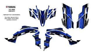 YAMAHA YFZ450 R/X 2009 11 Graphic Decals Kit 2001 Blue