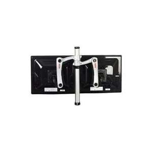 Articulating Dual Arm Desktop Pole Mount/ Dskclamp for 15 24IN LCD