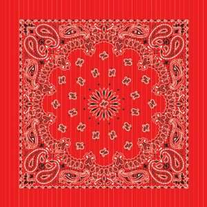 Red Metallic&Gold Stripes Paisley Bandanas Toys & Games