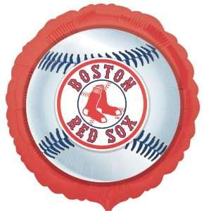 Lets Party By Boston Red Sox Baseball Foil Balloon