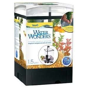 Tetra 1.5 Gallon Aquarium Kit Black Desk Top Aquarium