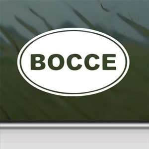 Bocce White Sticker Car Window Vinyl Laptop White Decal