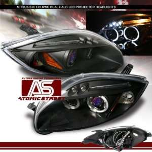Eclipse Headlights Black LED Dual Halo Pro Headlights 2006 2007 06 07
