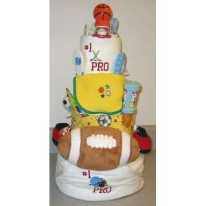 Tier Sports Baby Diaper Cake  Toys & Games