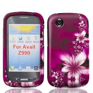 ZTE Avail Z990 Z 990 Rose Red Floral Flowers Design Snap
