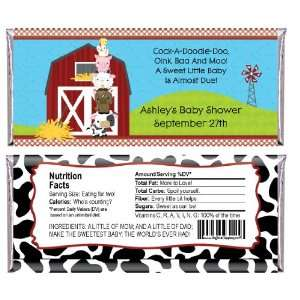 Farm Animals   Personalized Candy Bar Wrapper Baby Shower Favors