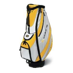 New Cobra Sport Golf Cart Bag White/Yellow Sports