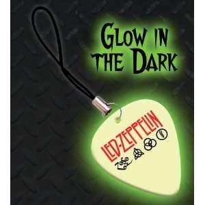Led Zeppelin Premium Glow Guitar Pick Mobile Phone Charm