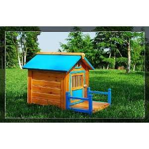 AOSOM Wooden Pet DOG Wood House   Blue