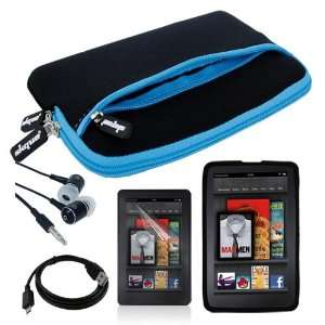 Black with Blue Trim Glove Case + Black Silicone Skin Case