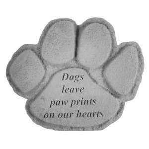 KayBerry Garden Accent Pet Memorial Stone Dogs leave paw