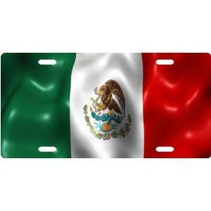 Mexican Flag Custom License Plate Novelty Tag from Redeye