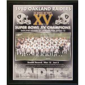 1980 Oakland Raiders NFL Football Super Bowl 15 XV