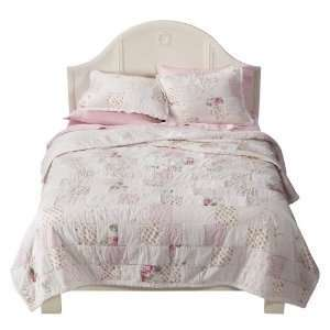 Simply Shabby Chic Cottage Rose Patchwork Full/Queen Quilt
