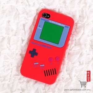 Red Gameboy Design Soft Silicone Skin Gel Cover Case for