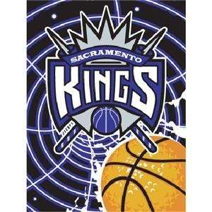 Sacramento Kings Royal Plush Raschel NBA Blanket (800