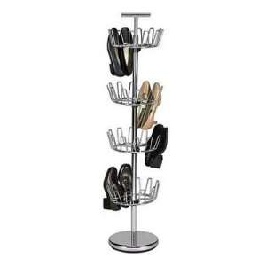 4 Tier Revolving Shoe Tree by Household Essentials