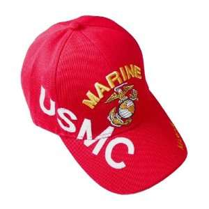 Marine Corp Sports Style Cap/Hat   USMC Armed Forces   Red