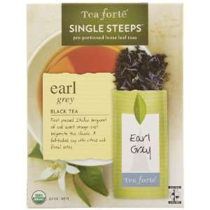 Tea Forté Earl Grey Tea, 12 Single Steeps  Grocery