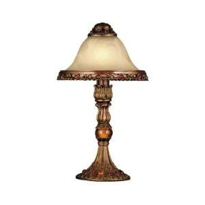 Dale Tiffany TA100946 Parisian Accent Lamp, Antique Gold and Art Glass