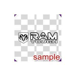 RAM TOUGH WHITE VINYL DECAL STICKER