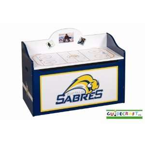 Buffalo Sabres Wood Wooden Toy Box Chest