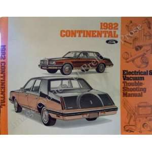 1982 Continental Electical & Vacuum Troubleshooting Manual Ford Parts