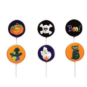 Lollipals, 6 Cute Halloween Themed Pops Ghost, Boo, Black Cat, Witch