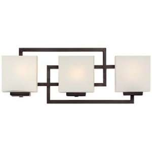 Lighting on the Square Bronze 21 Wide Bath Wall Light