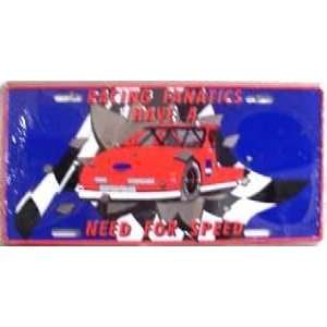 Racing Fanatics Metal License Plate Automotive