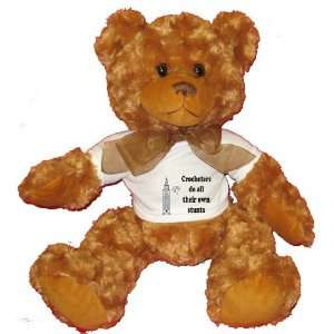 all their own stunts Plush Teddy Bear with WHITE T Shirt Toys & Games