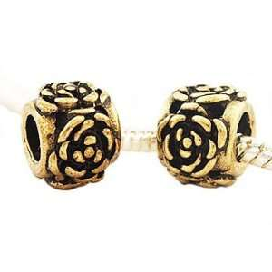 Hidden Gems (G042) Gold Plated Charm, will fit Pandora/Troll/Chamilia