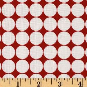 44 Wide Metro Living Dots Red Fabric By The Yard Arts