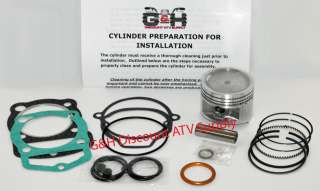 Engine Motor Top Rebuild Kit and Cylinder Machining Honda 185 185S ATC