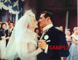 LUCILLE BALL DESI ARNAZ WEDDING KISS I LOVE LUCY photo