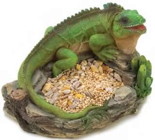 Country Garden Iguana Pet Bird Feeder Lawn Ornament