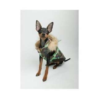 Green Camo Reversible Puffy Pet Dog Coat   Many Sizes
