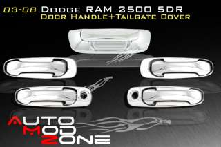 03 08 Dodge RAM Chrome 5DR Door Handle+Tailgate Cover