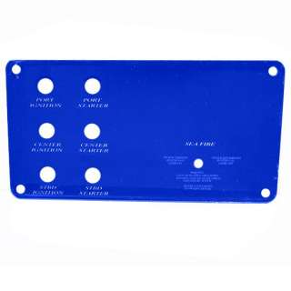 LIVORSI DONZI 43 BLUE BLANK BOAT DASH PANEL KIT DP43T