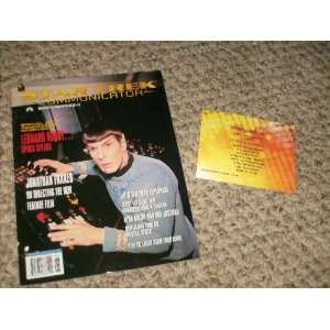 LEONARD NIMOY SIGNED AUTOGRAPHED STAR TREK MAGAZINE WITH COA