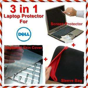 17 Dell Studio XPS Screen Protector+Keyboard skin Silicon Cover+Sleeve