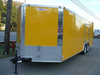 NEW 8.5 X 24 ENCLOSED LAWN MOWER CAR HAULER TRAILER