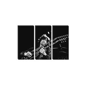 Jimmy Page of Led Zeppelin Rocking Guitar 1973 Canvas Art