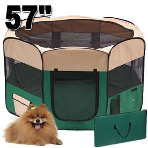 57 2 DOOR SOFT PET PUPPY DOG PLAYPEN EXCERCISE KENNEL