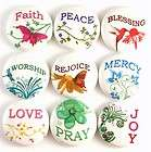 religious inspirational words church fridge magnet pin badge button