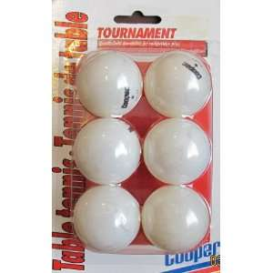 Table Tennis Balls Pack of 6 Ping Pong Balls